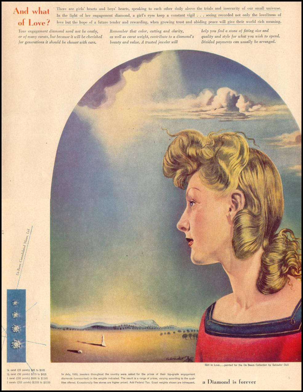 Dali_De_Beers_print_ad_Life_November_1953
