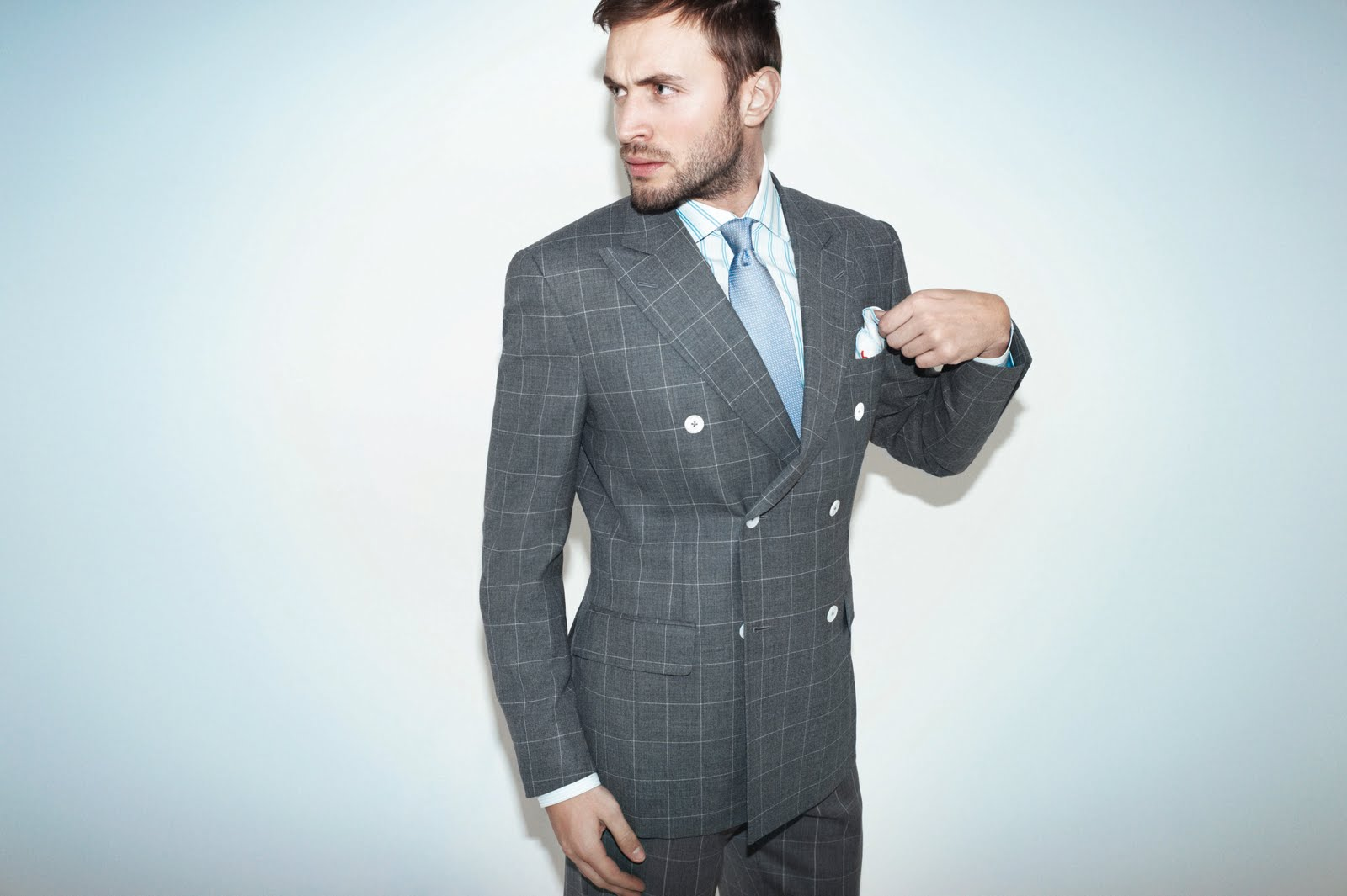 Double-breasted-checked-jacket-mens-fashion-style
