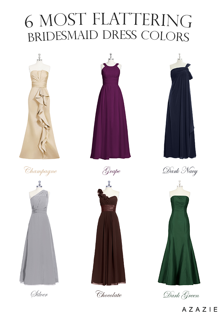 flattering bridesmaids dress colours
