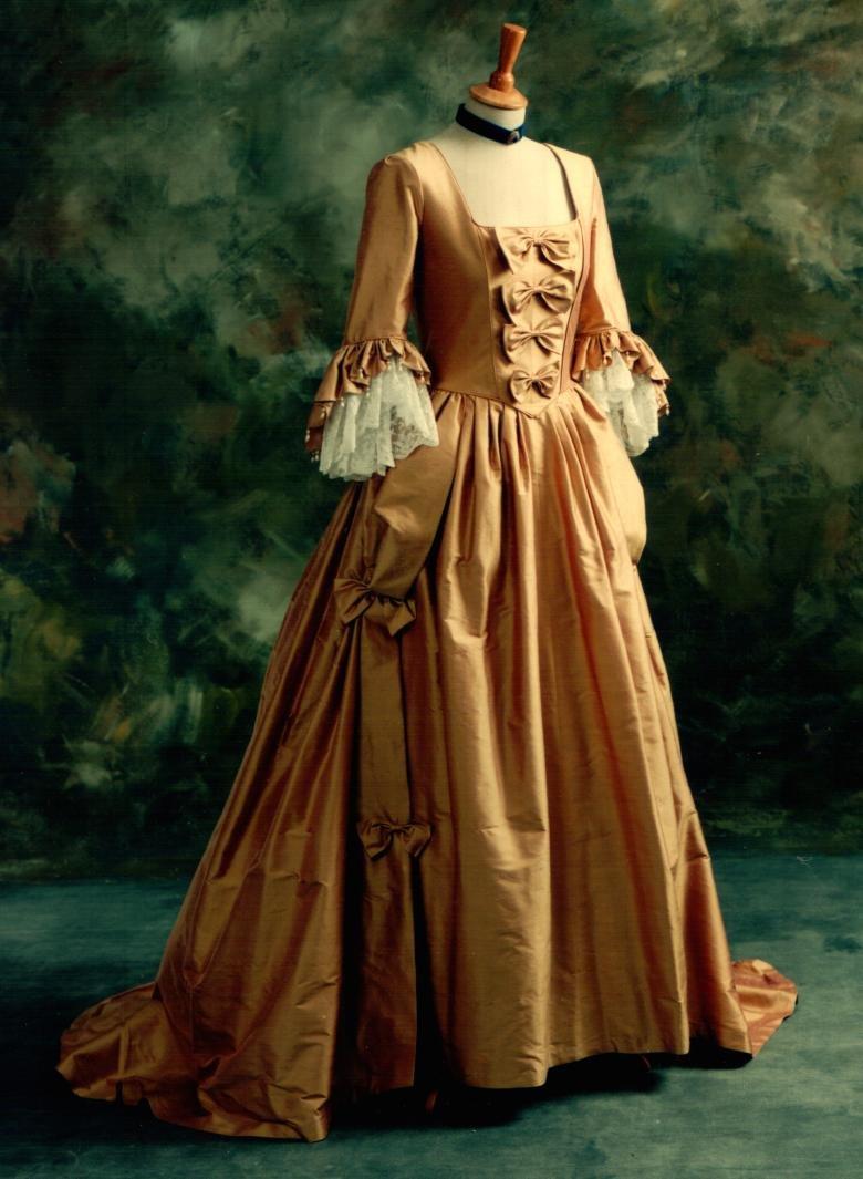 Gold-eighteenth-century-alternative-wedding-dress