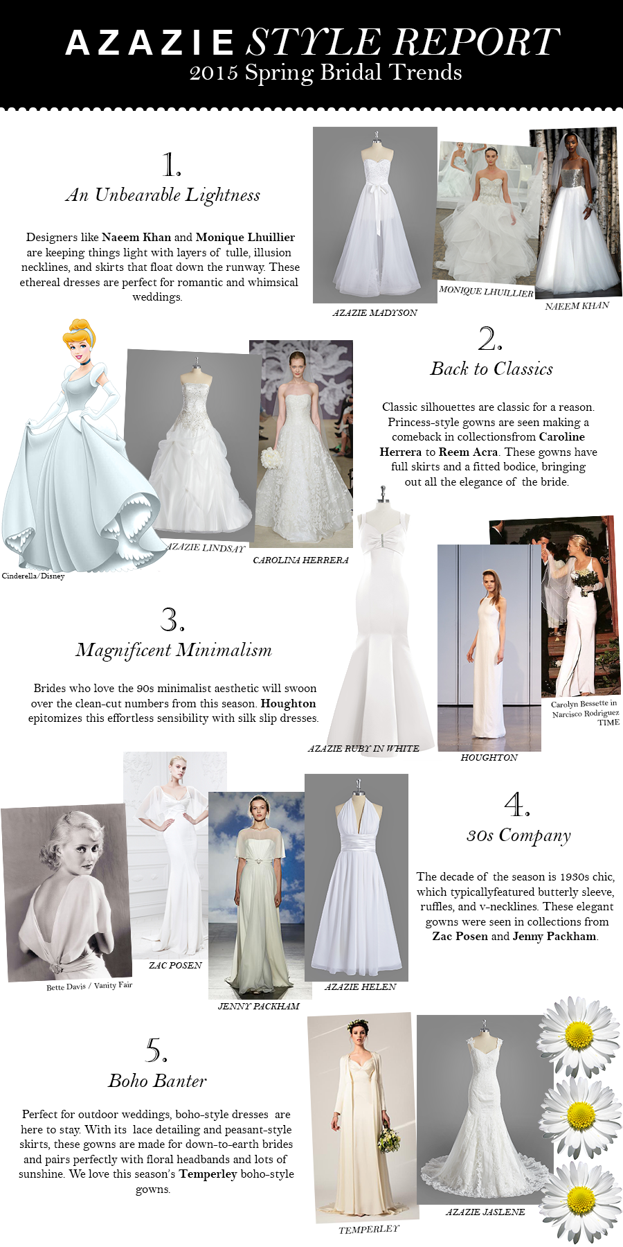 AZAZIE Style Report – 2015 Bridal Collection Trends