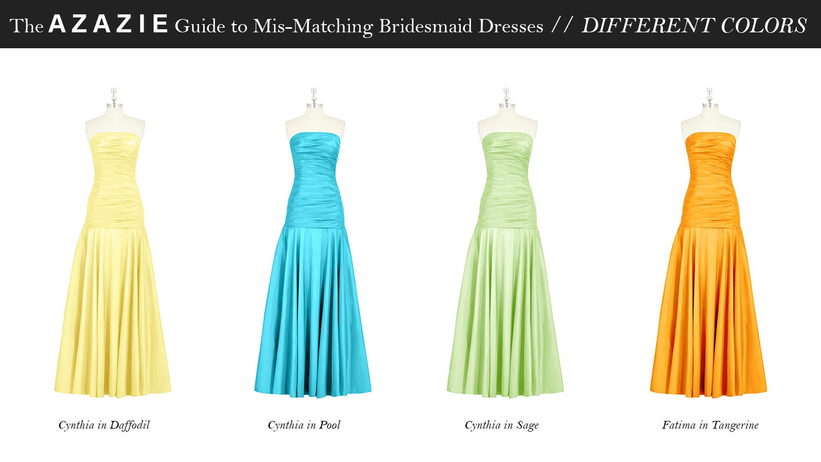 AZAZIE_Guide_MisMatching_Bridesmaid_Dresses_Different_Colors