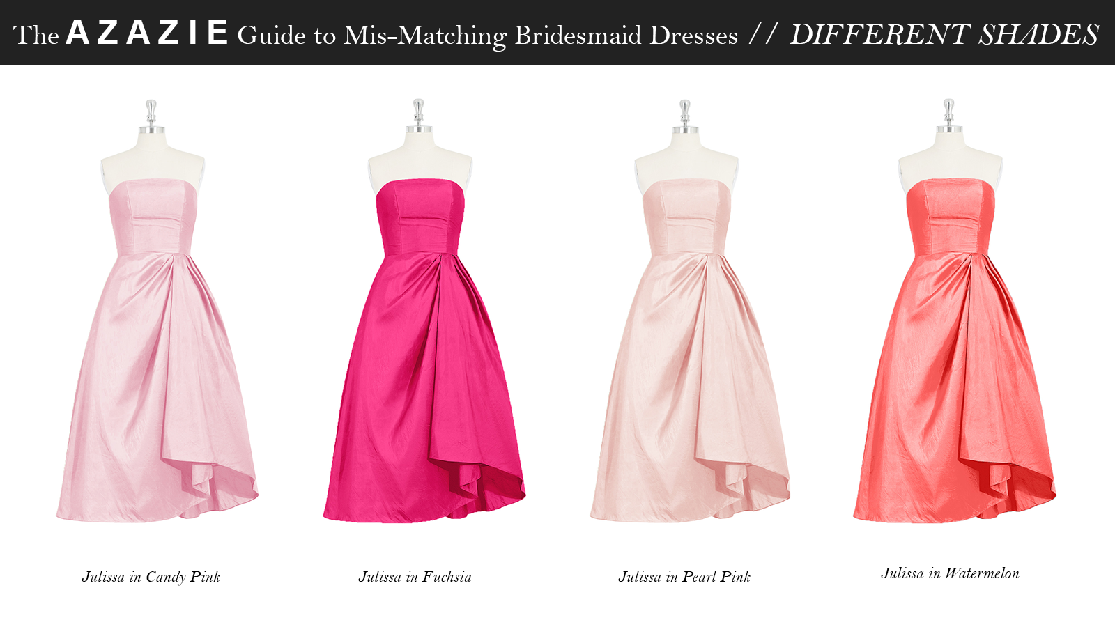 AZAZIE_Guide_MisMatching_Bridesmaid_Dresses_Different_Shades