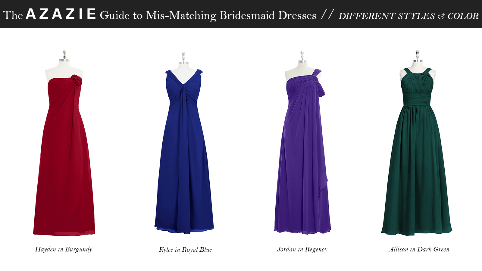 AZAZIE_Guide_MisMatching_Bridesmaid_Dresses_Different_Styles_and_Color