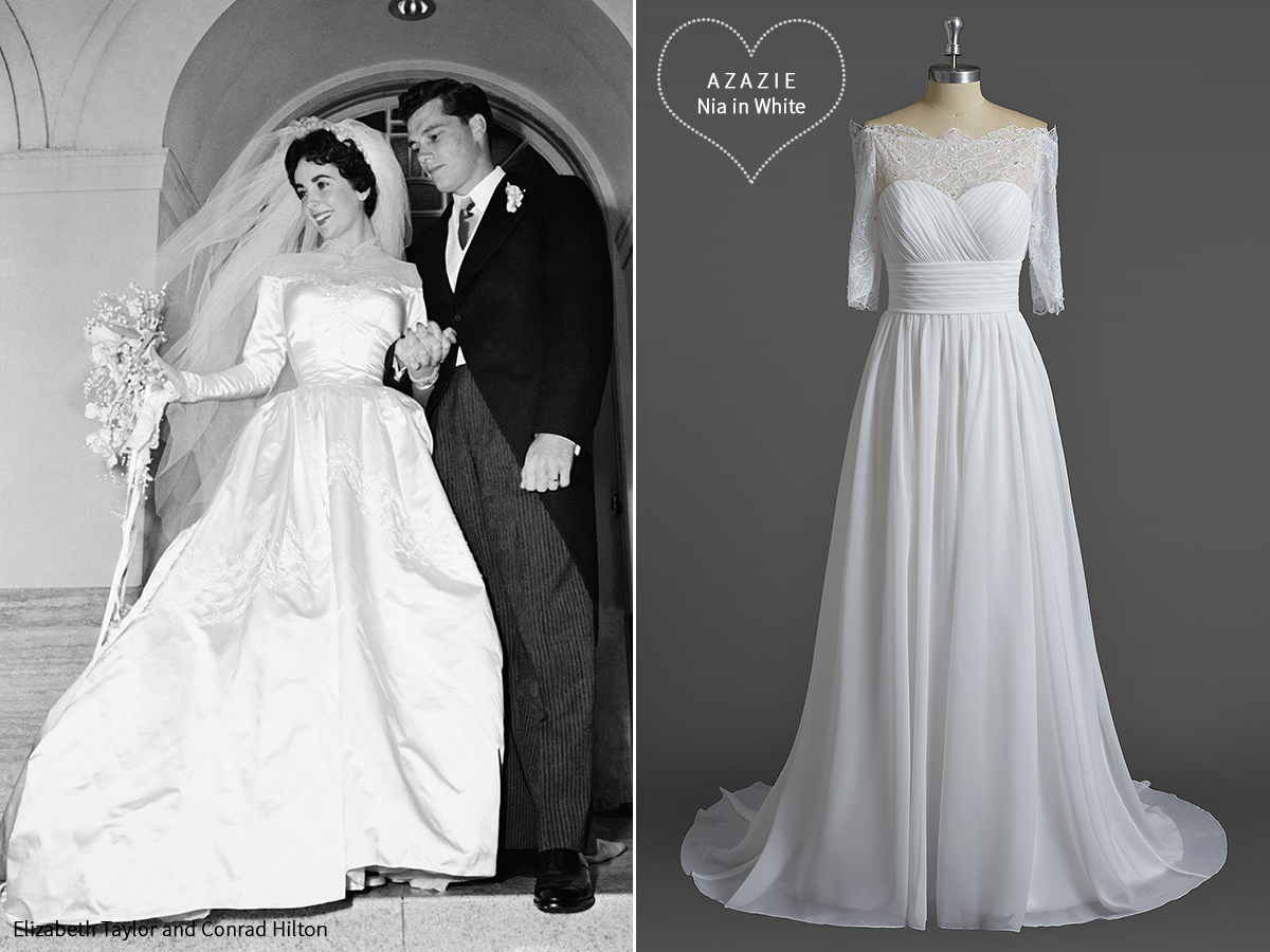 AZAZIE_Iconic_Wedding_Gowns_Inspiration_Elizabeth_Taylor