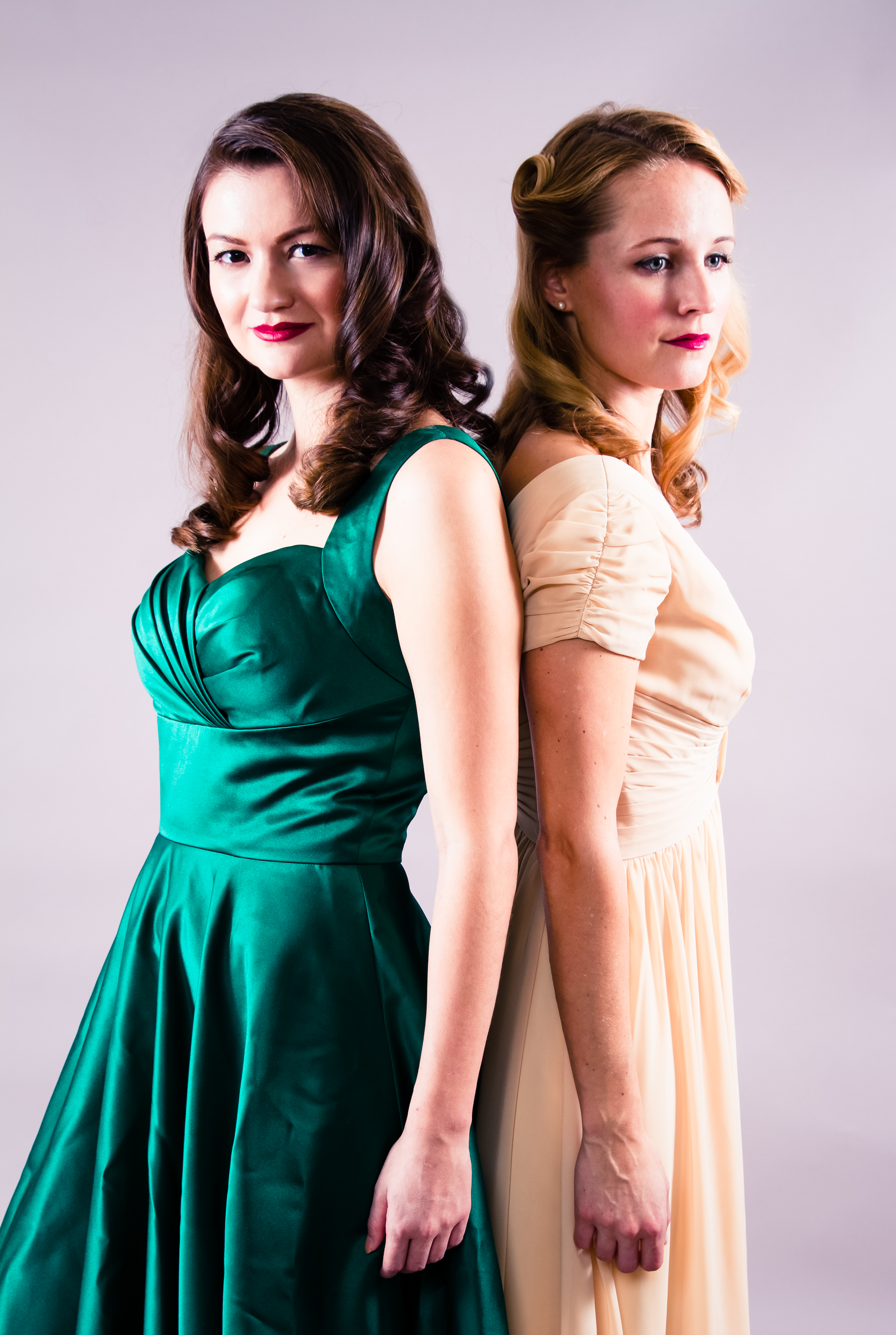 Girl in the Green Dress Azazie Amber Pinup Dress
