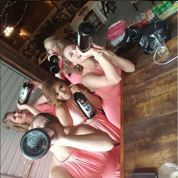 Azazie Bridesmaids Pregaming Watermelon Coral Regina Dress