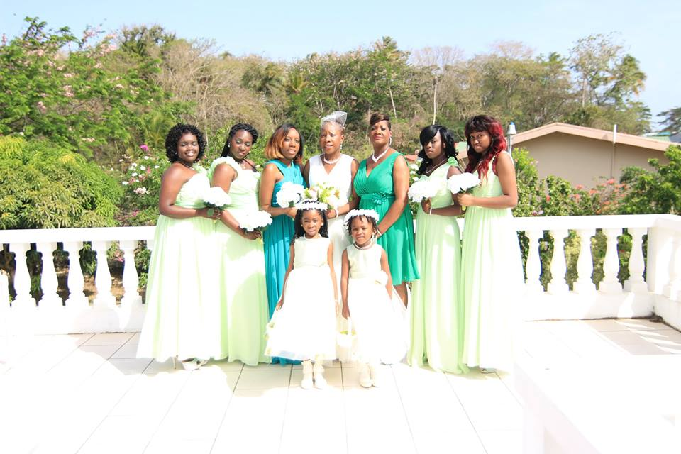 Azazie Green Bridesmaids Destination Wedding