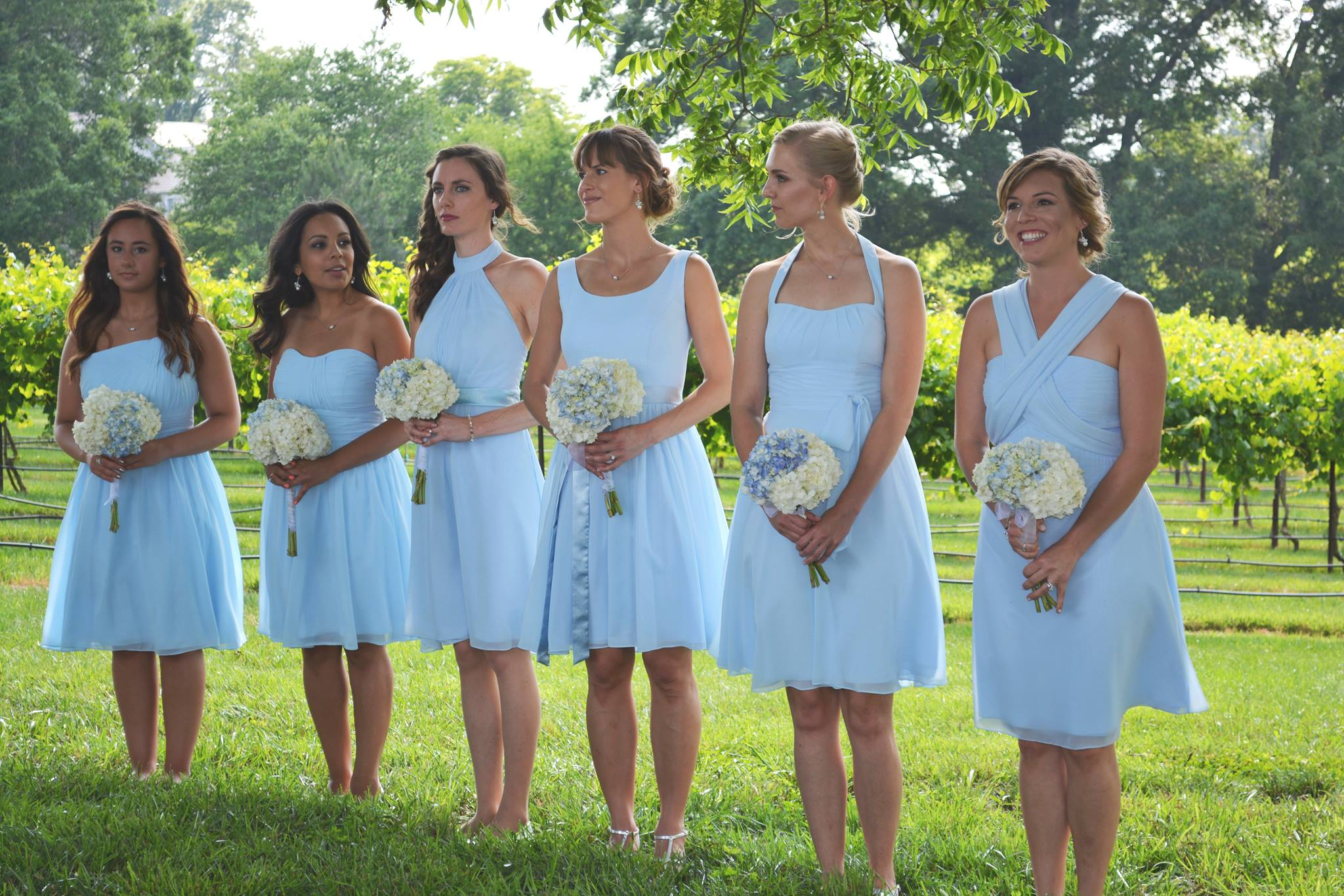 AZAZIE sky blue bridesmaid dresses