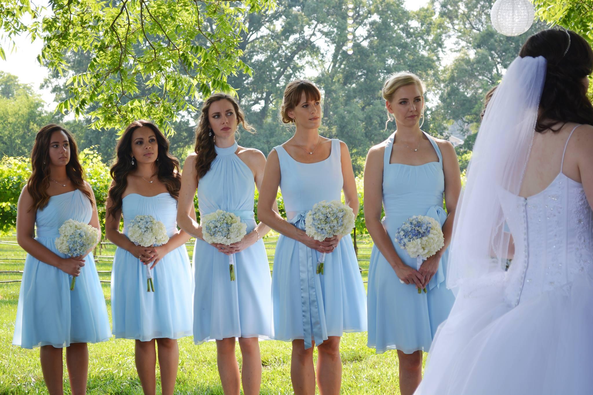 AZAZIE sky blue bridesmaids