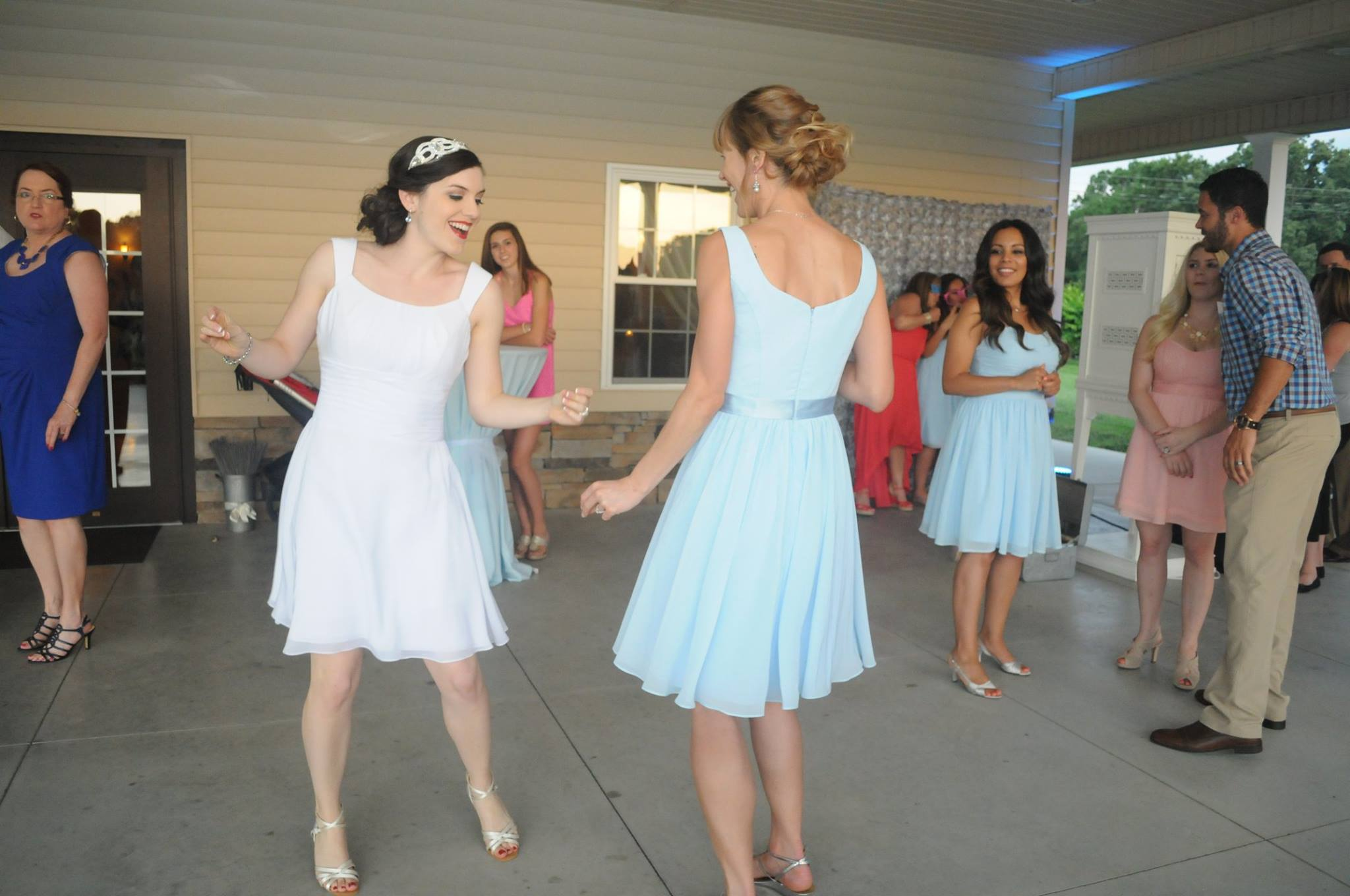 AZAZIE reception dress sky blue