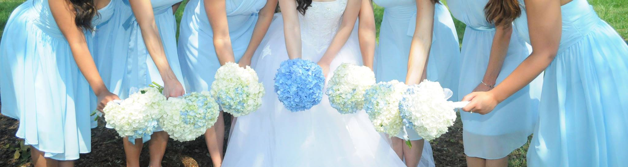 Carolina blue wedding bridesmaids