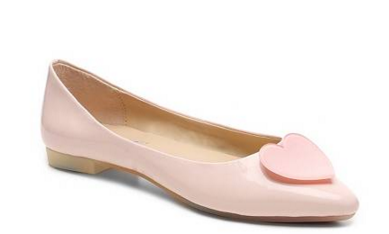 heart wedding flats