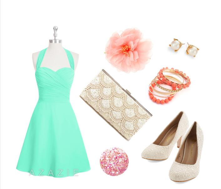 AZAZIE Kinley Bridesmaid Dress Pinup Vintage