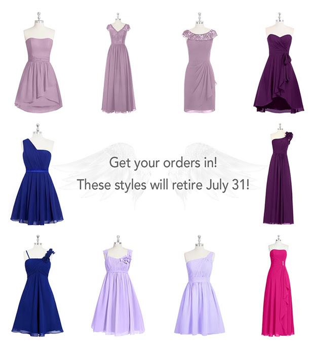 AZAZIE Retired Dresses July 2015