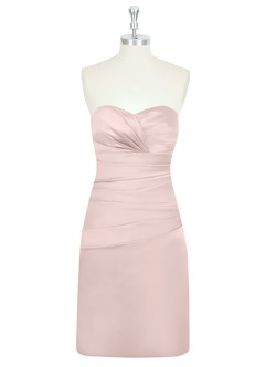 AZAZIE Angeline Satin Bridesmaid Dress