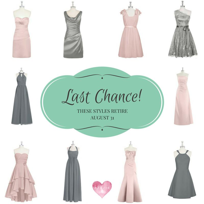 AZAZIE bridesmaids retiring dresses