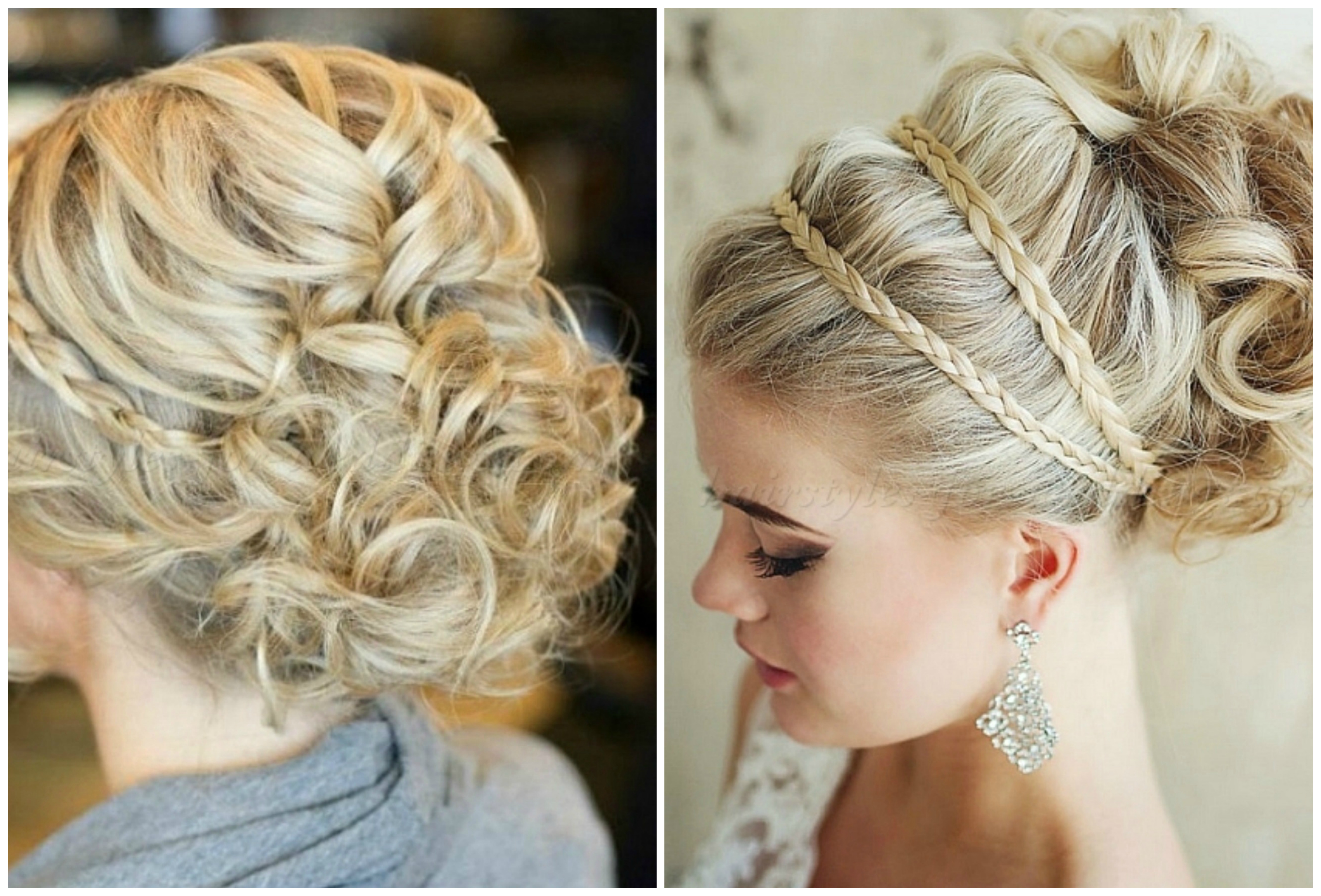 Greek Goddess With Braided Headband. Blonde Hair