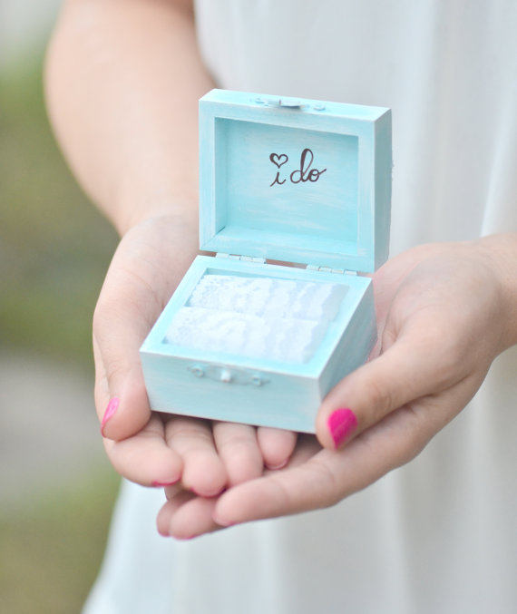 blue bridal box