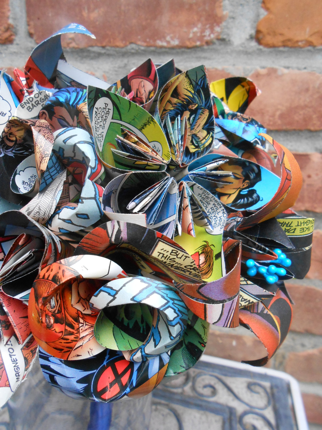 Comic Book Paper Bouquet
