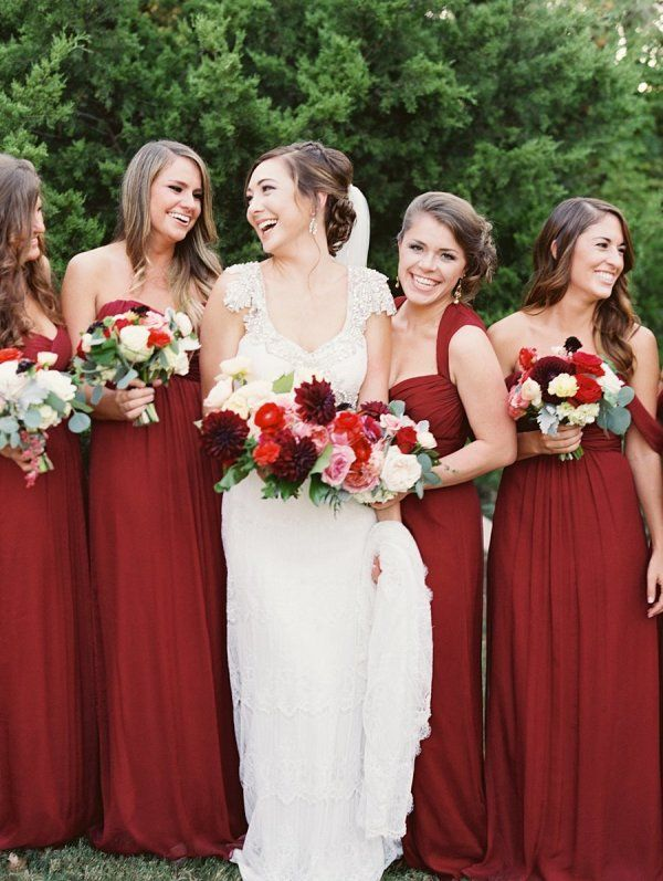 Burgundy-Bridesmaids-Dresses