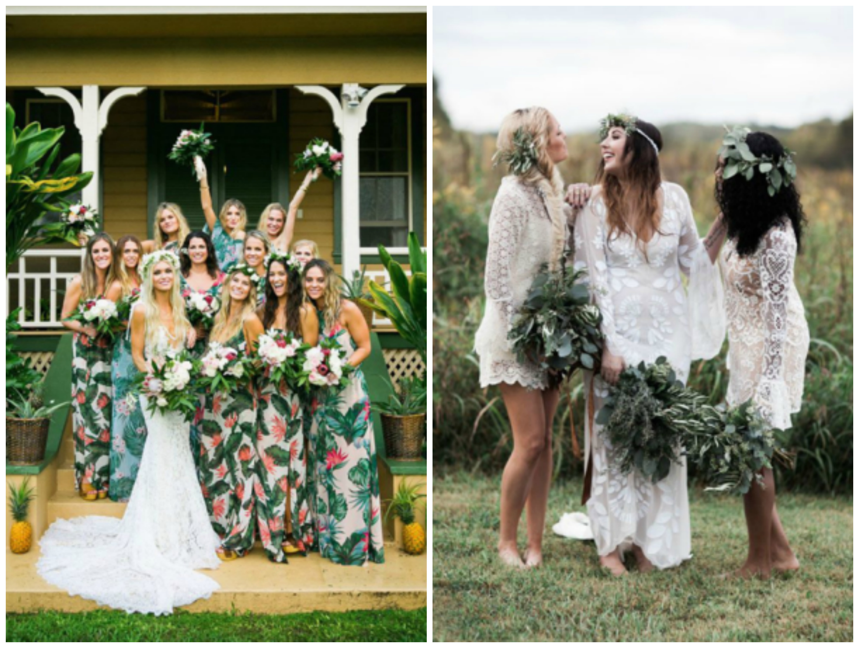 Friday inspiration boho bridesmaid azazie blog solid bridesmaids dress colors think dresses with lace overlay or floral patterns in pastels or neutral colors while being flowy draped and layered ombrellifo Images
