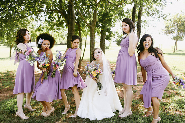 Wedding Party in Wisteria