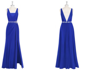 blue, bridesmaids, bridesmaids dresses, dresses, wedding, low back, formal, gown