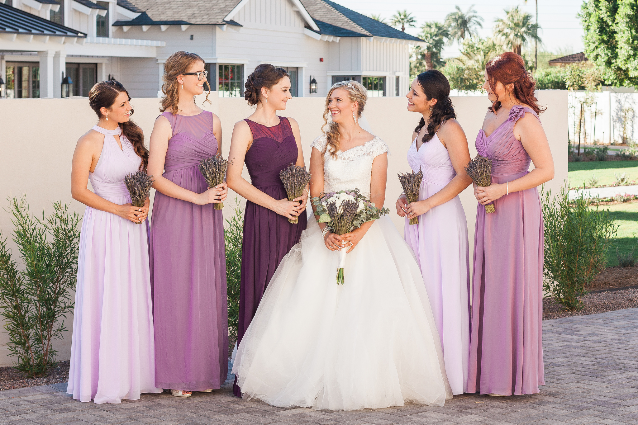 Wedding Bridesmaids Purple Maid Of Honor Moh Mix And Match