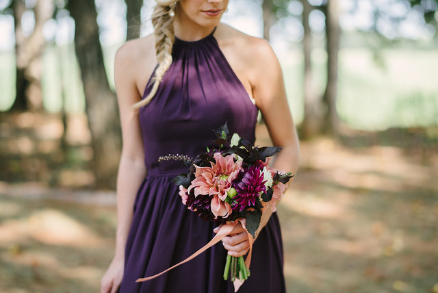 bridesmaid, dress, purple, dark purple, long, grape, bouquet, wedding, formal, event, pretty, wedding