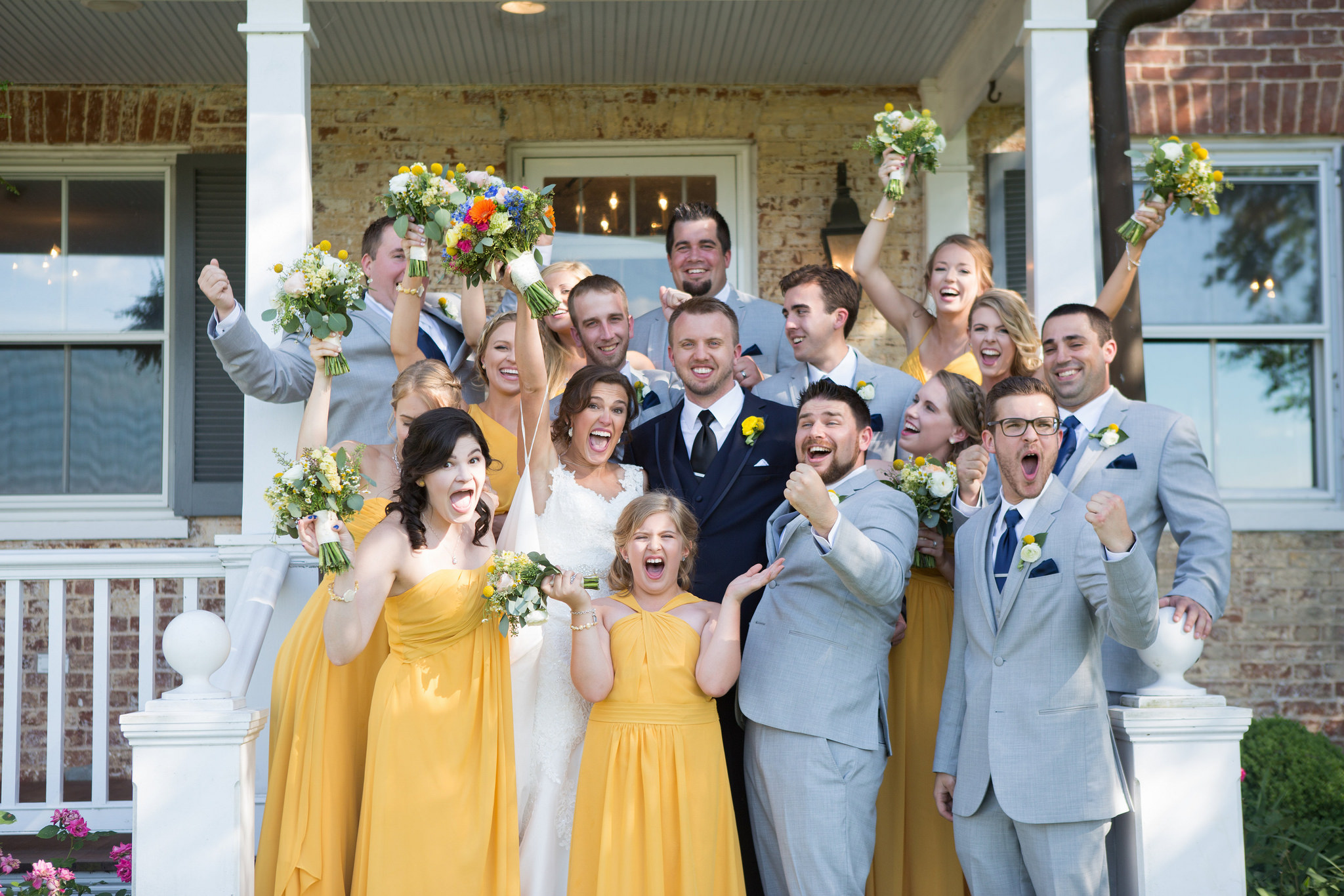 yellow, bridesmaids, dresses, junior bridesmaids, wedding