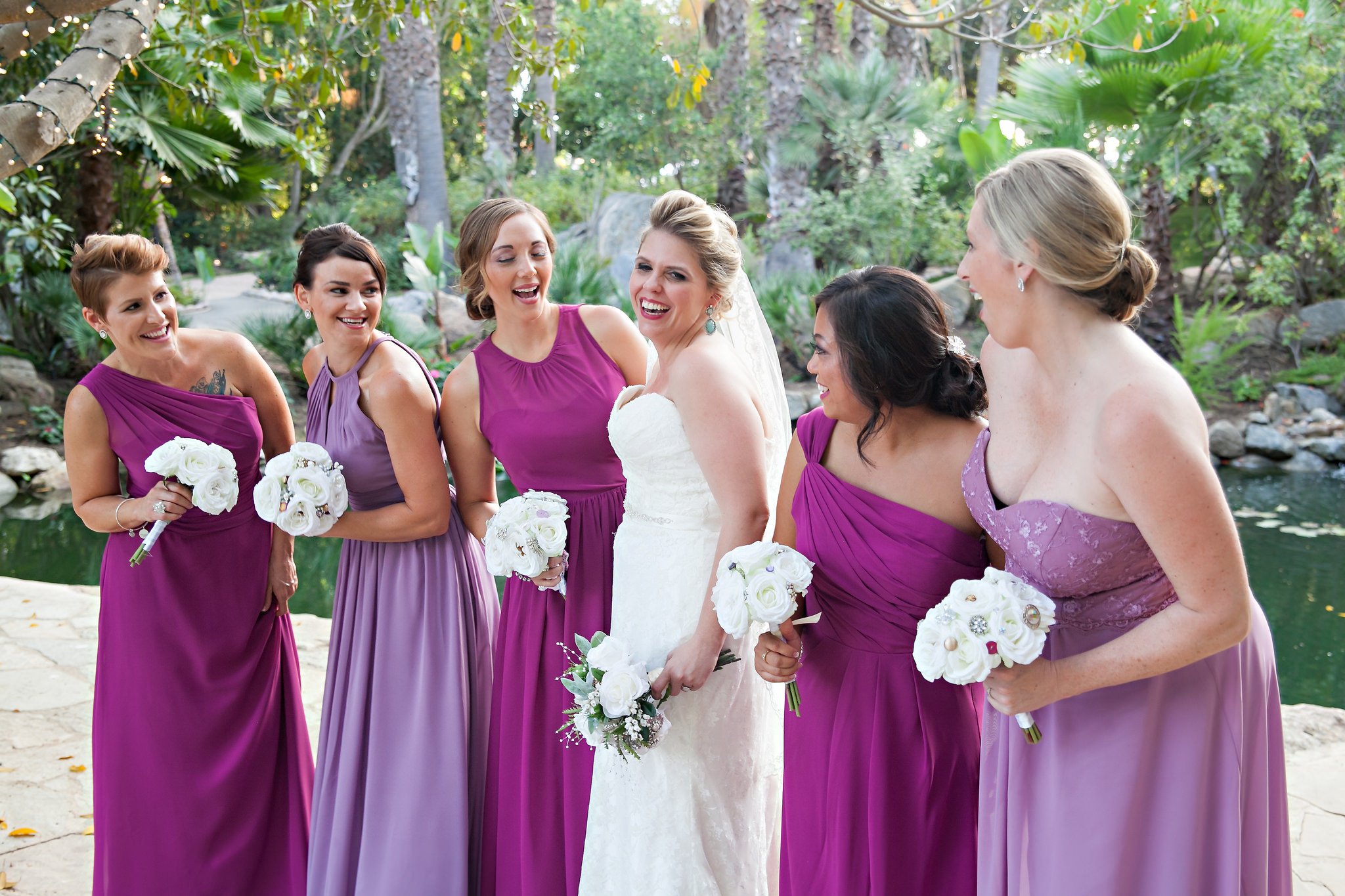 bridal party, wedding, bridesmaids, dresses