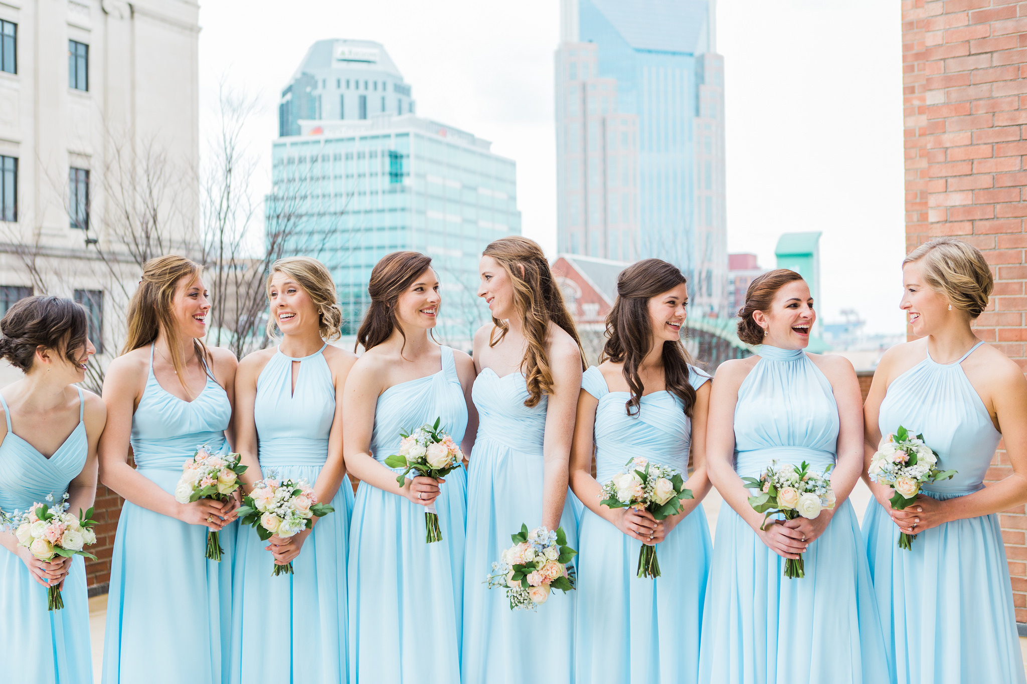 Mix and match colors bridesmaid dresses