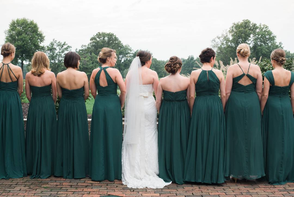 bridesmaids, wedding, real, dresses, inspiration