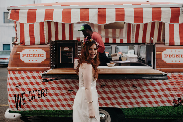 bride, real, wedding, food, truck, inspiration