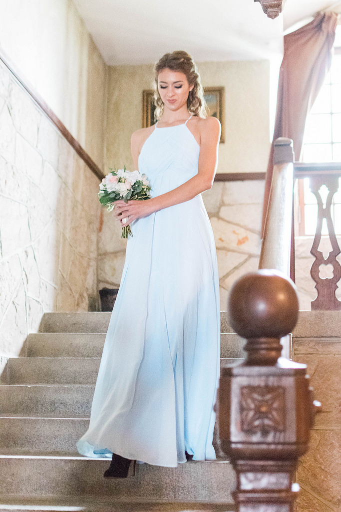 bridesmaid, inspiration, dresses, blue, sky, long, gown, wedding
