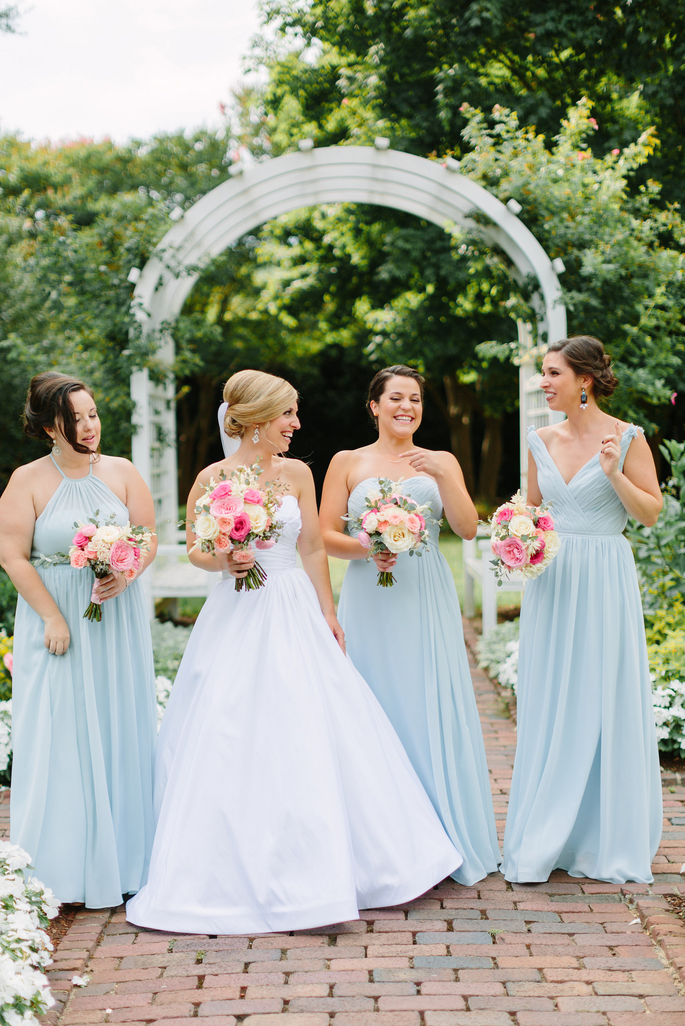 wedding, blue, bridesmaids, dresses, wedding, inspiration