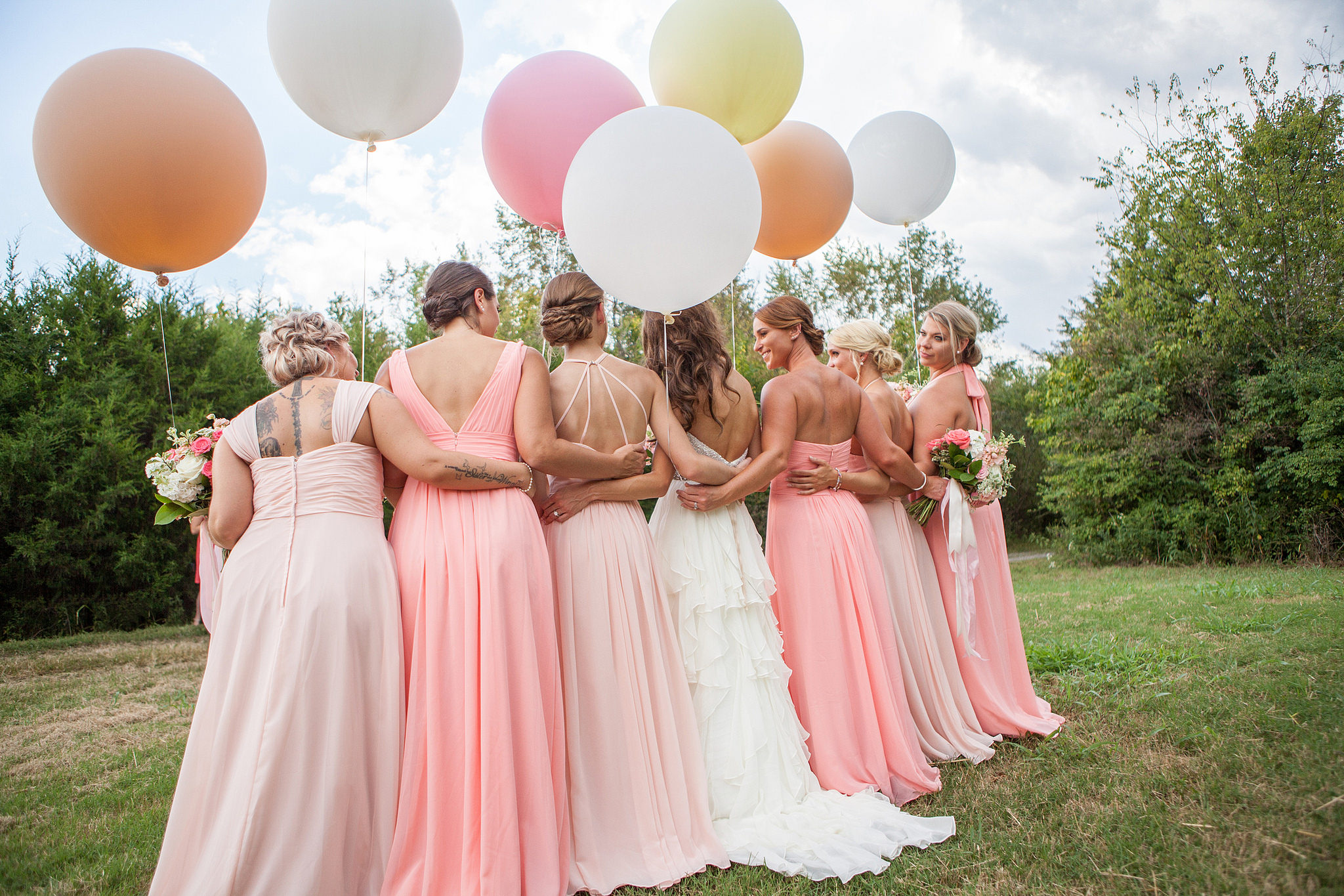 wedding, real, bride, bridesmaids, inspiration