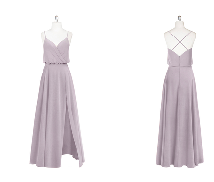 slit, strappy, v-neck, bridesmaid, chiffon, dress
