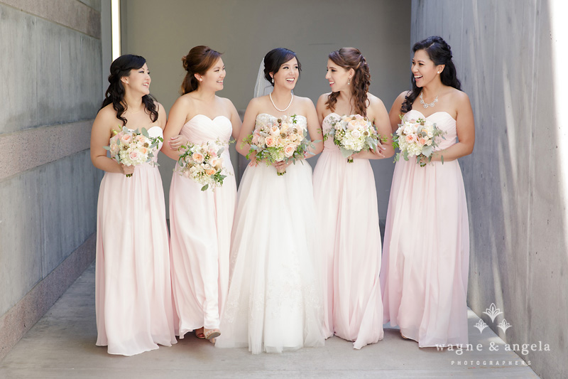 real, wedding, pink, bridal, style, bride, bridesmaid, dresses, afforable