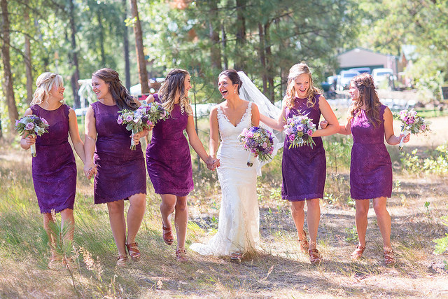 real, wedding, bridal. purple, bridesmaids, affordable, short, knee length