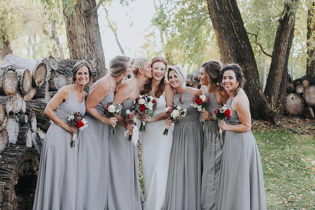 grey, bridesmaid, dress, wedding, style, bridal, inspo, affordable