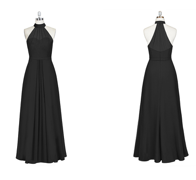 long, affordable, budget, friendly, bridesmaid, dresses, dress, gown, wedding, bridal, style, inspiration, illusion, halter