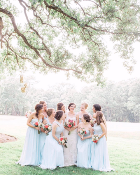 affordable, chic, bridesmaid, dresses, wedding, inspiration, bride, planning
