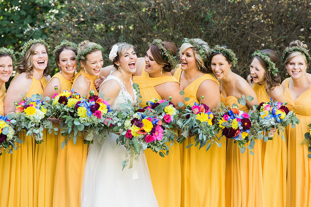 real, wedding, inspiration, colors, affordable, bridesmaid, dresses