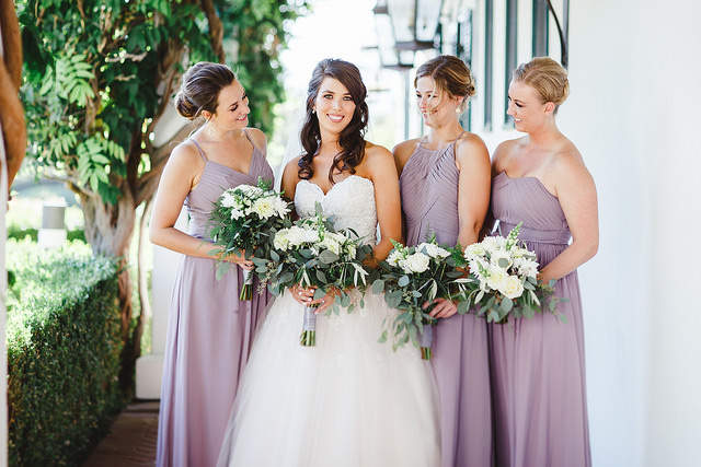 dusty, purple, romantic, wedding, color, affordable, bridesmaid, dresses