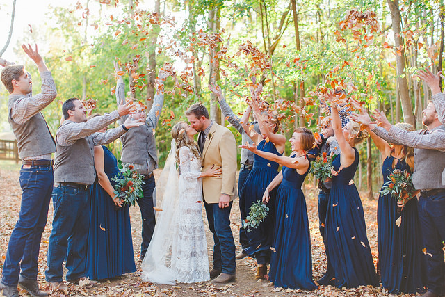 fall, real, wedding, autumn, party, outdoors