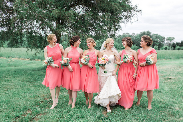 watermelon, pink, summer, bridesmaid, dresses, affordable, custom, fashion, real, wedding
