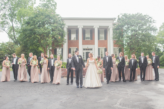 real, wedding, taupe, neutral, chic, bride, groomsmen, bridal, bridesmaids, dresses, affordable