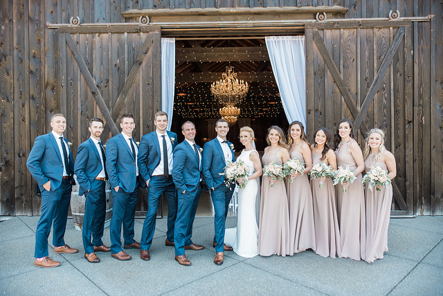 real, wedding, taupe, neutral, chic, rustic, glam, bride, groomsmen, bridal, bridesmaids, dresses, affordable